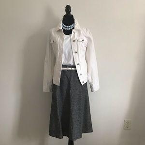 Plus Size Encore Charcoal chambray a-line skirt